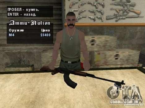 O PKK para GTA San Andreas sexta tela