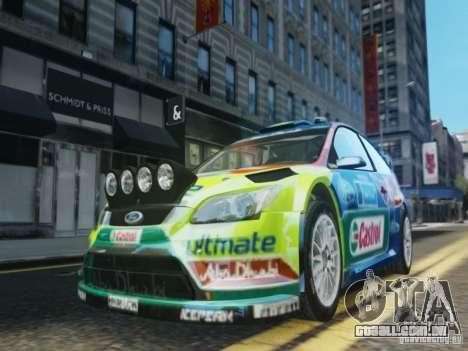 Ford Focus RS WRC para GTA 4 vista superior