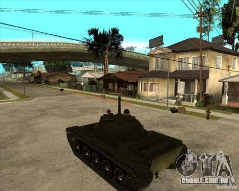 T-55 para GTA San Andreas esquerda vista