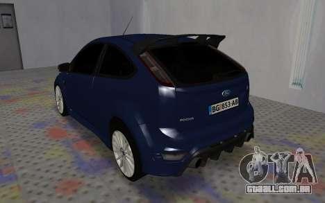 Ford Focus RS para GTA San Andreas vista direita