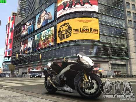 Aprilia RSV-4 Black Edition para GTA 4 esquerda vista