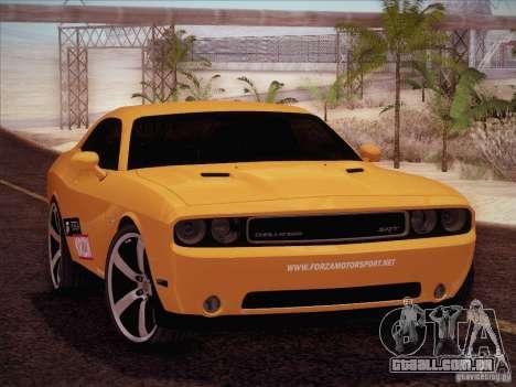 Dodge Challenger SRT8 2010 para GTA San Andreas vista interior