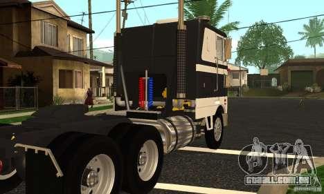 Peterbilt 362 Cabover para GTA San Andreas vista direita