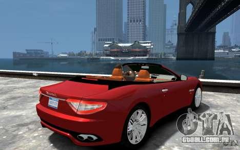 Maserati GranCabrio para GTA 4 vista direita