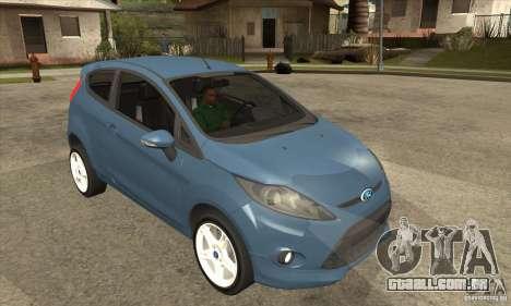 Ford Fiesta Zetec S 2009 para GTA San Andreas vista traseira