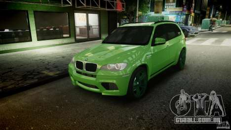 BMW X5 M-Power wheels V-spoke para GTA 4 interior
