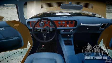 Pontiac Firebird 1970 para GTA 4 vista lateral