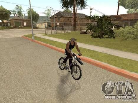 Ocultar-traz as armas no carro para GTA San Andreas