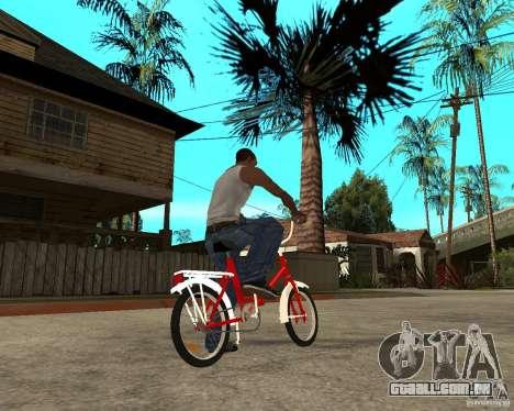 Tair GTA SA mota mota para GTA San Andreas traseira esquerda vista