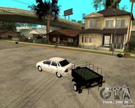 2170 LADA Priora luz tuning e reboque para GTA San Andreas esquerda vista