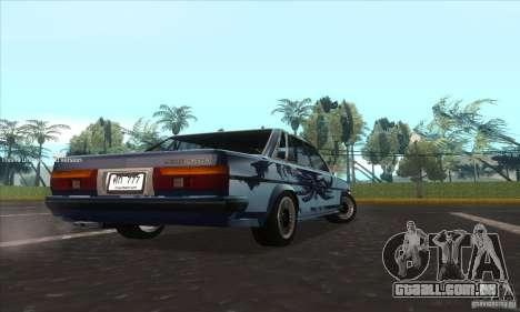 Toyota Cresta GX71 para GTA San Andreas traseira esquerda vista