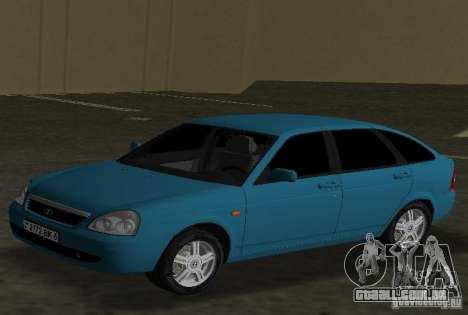 Lada Priora Hatchback para GTA Vice City deixou vista