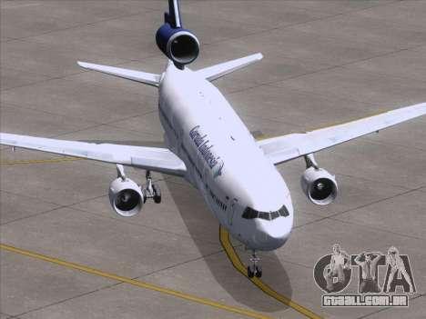 McDonnell Douglas MD-11 Garuda Indonesia para GTA San Andreas vista traseira
