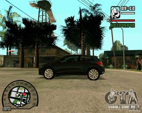 Volswagen Scirocco para GTA San Andreas vista direita