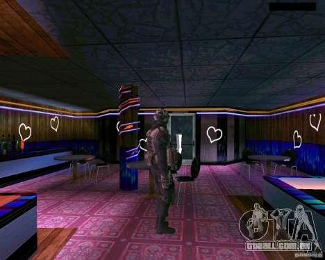 A segunda pele do CoD MW 2 para GTA San Andreas quinto tela