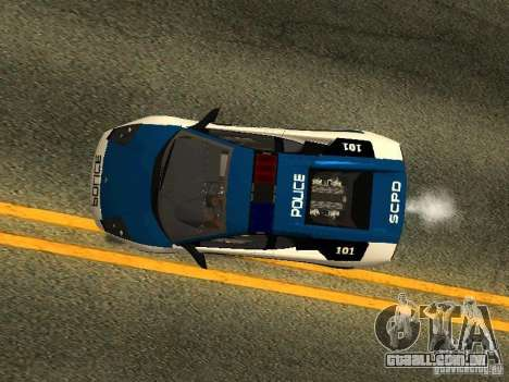 Lamborghini Murcielago LP640 Police V1.0 para vista lateral GTA San Andreas