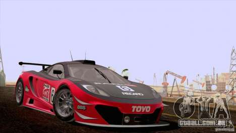 McLaren MP4-12C Speedhunters Edition para GTA San Andreas vista interior