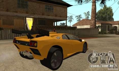 Lamborghini Diablo GT-R para GTA San Andreas vista direita