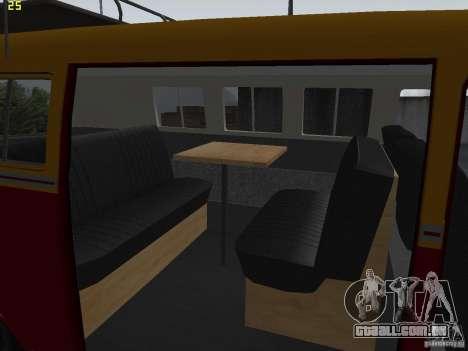 Volkswagen Transporter T1 Camper para GTA San Andreas vista traseira