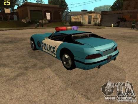 Banshee Police San Andreas para GTA San Andreas esquerda vista