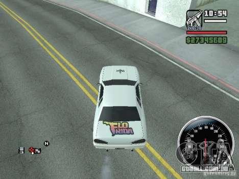 Vinil para Elegy para GTA San Andreas traseira esquerda vista