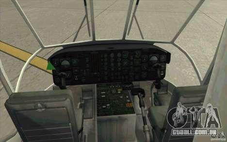 Sikorsky CH-54 Tarhe para GTA San Andreas vista direita
