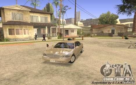 Lincoln Towncar Secret Service para GTA San Andreas esquerda vista