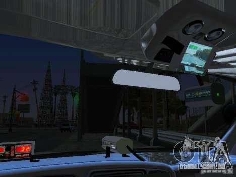 Chevrolet Suburban Los Angeles Police para GTA San Andreas vista interior