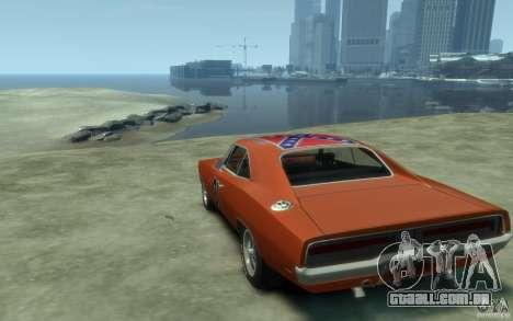 Dodge Charger General Lee v1.1 para GTA 4 traseira esquerda vista