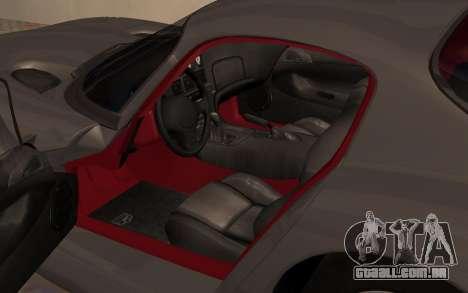 Dodge Viper GTS Tunable para GTA San Andreas vista traseira