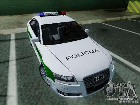 Audi A6 Police para GTA San Andreas vista traseira
