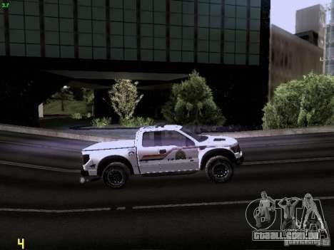Ford Raptor Royal Canadian Mountain Police para vista lateral GTA San Andreas