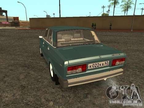 2105 VAZ, v. 2 para GTA San Andreas traseira esquerda vista