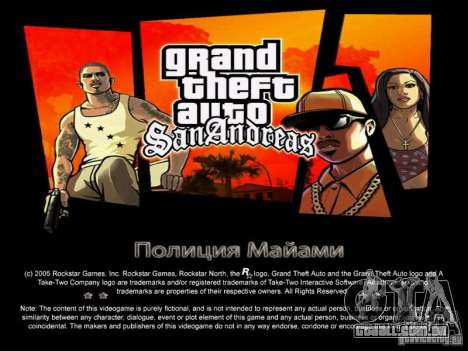 Novas telas de Miami + bônus para GTA San Andreas