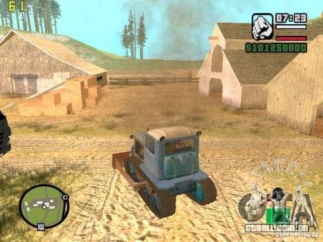 Escavadora do Cazaquistão DT-75 para GTA San Andreas traseira esquerda vista