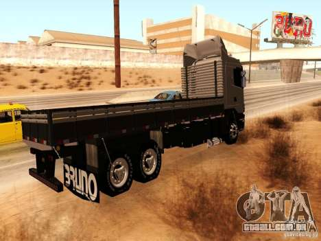 Scania 124G R400 para GTA San Andreas traseira esquerda vista