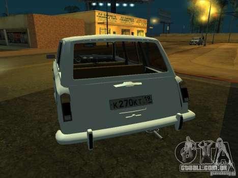 VAZ 2106 Touring para GTA San Andreas vista direita