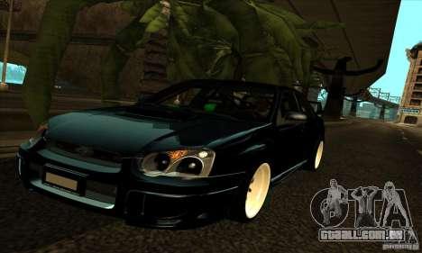Subaru Impresa WRX light tuning para GTA San Andreas vista superior
