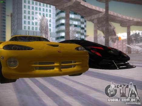 Dodge Viper 1996 para GTA San Andreas vista superior