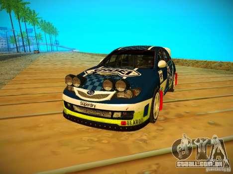 Subaru Impreza WRX STi N14 Rallycross para GTA San Andreas esquerda vista