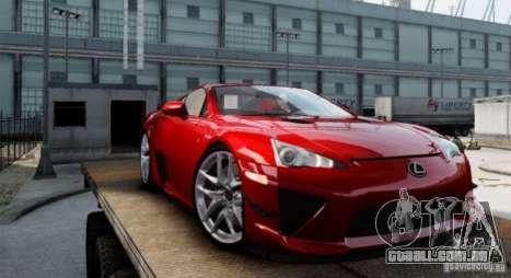 Lexus LF-A para GTA 4 esquerda vista