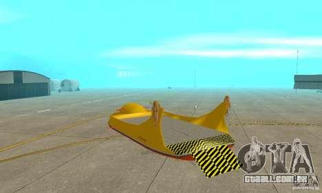 Plataforma aérea transportadora para GTA San Andreas vista direita