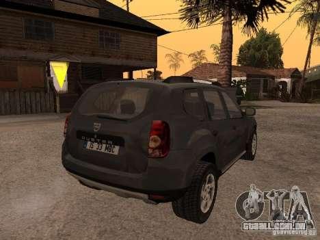 Dacia Duster para GTA San Andreas vista interior
