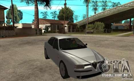 Alfa Romeo 156 2,5V6 2000 para GTA San Andreas vista traseira