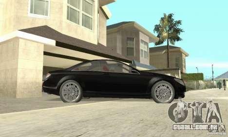 Mercedes-Benz CL500 para GTA San Andreas traseira esquerda vista