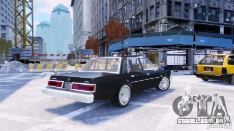 Dodge Diplomat 1983-85 para GTA 4 esquerda vista