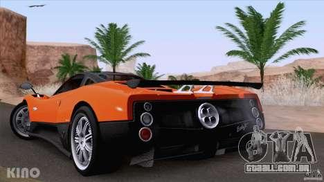 Pagani Zonda F para GTA San Andreas vista traseira