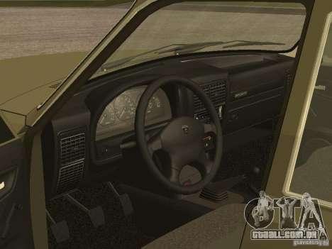 GAZ 3110 v 1 para GTA San Andreas vista traseira