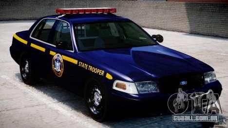 Ford Crown Victoria New York State Patrol [ELS] para GTA 4 vista superior