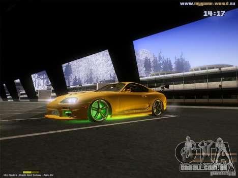 Toyota Supra v2 (MyGame Drift Team) para GTA San Andreas esquerda vista